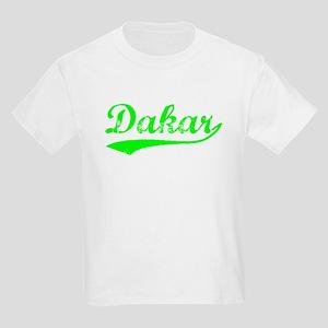 Vintage Dakar (Green) Kids Light T-Shirt