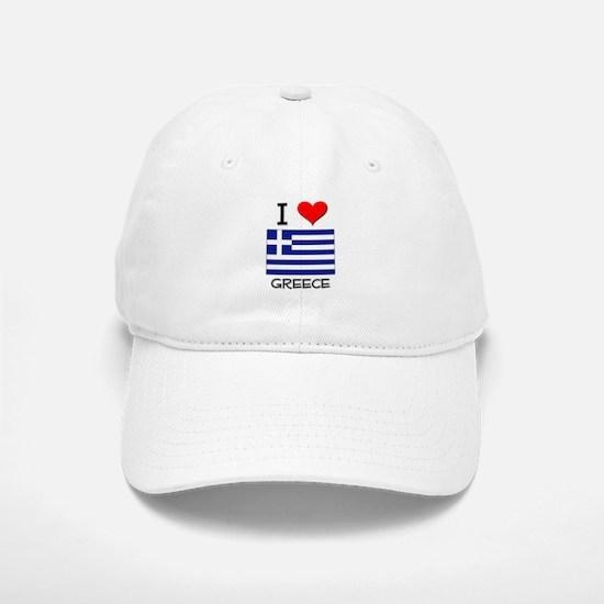 I Love Greece Baseball Baseball Cap