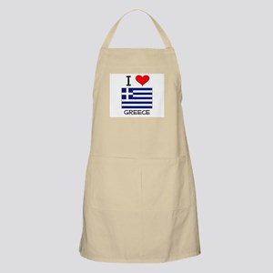 I Love Greece BBQ Apron