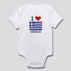 I Love Greece Infant Bodysuit