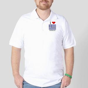 I Love Greece Golf Shirt