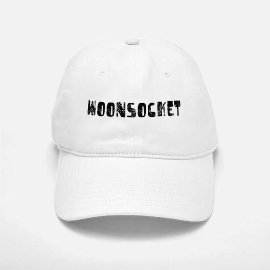 Woonsocket Faded (Black) Baseball Baseball Cap