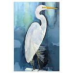 Egret Large Poster