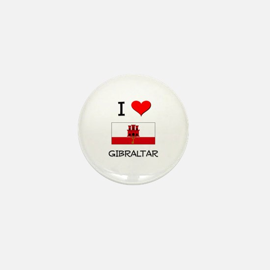 I Love Gibraltar Mini Button