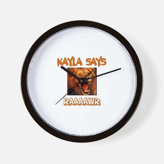 Kayla Says Raaawr (Lion) Wall Clock