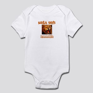 Kayla Says Raaawr (Lion) Infant Bodysuit