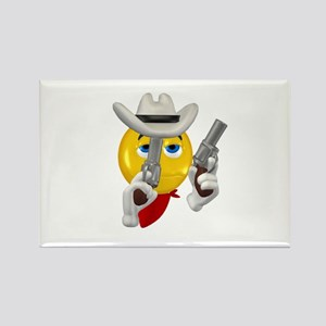 Howdy Partner Cowboy Face Rectangle Magnet