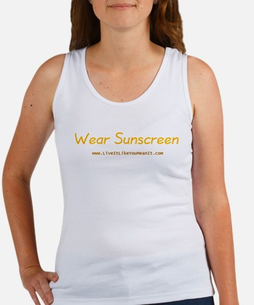 Wear Sunscreen Women's Tank Top