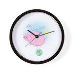 Weird Cartoon Flying Pig Wall Clock -Inspirational