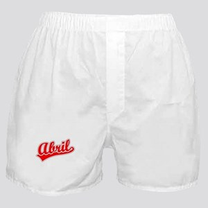 Retro Abril (Red) Boxer Shorts
