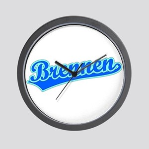Retro Brennen (Blue) Wall Clock