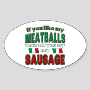 Italian Food Oval Sticker