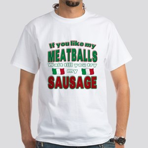 Italian Food White T-Shirt