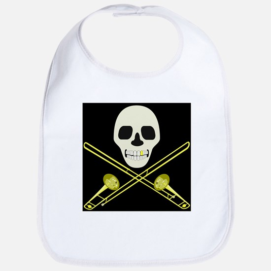 Skull and Cross'bones Bib
