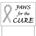 Black Paws4Cure Yard Sign