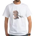 Creepy Doll Head White T-Shirt