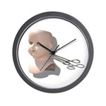 Creepy Doll Head Wall Clock