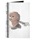 Creepy Doll Head Journal