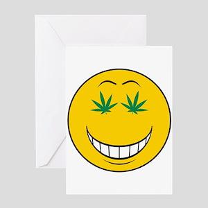 Pothead Smiley Face Greeting Card