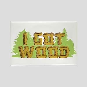 FB I Got Wood Rectangle Magnet
