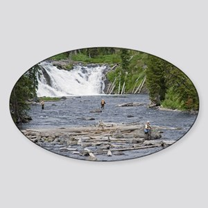 Fly Fishing Yellowstone Oval Sticker