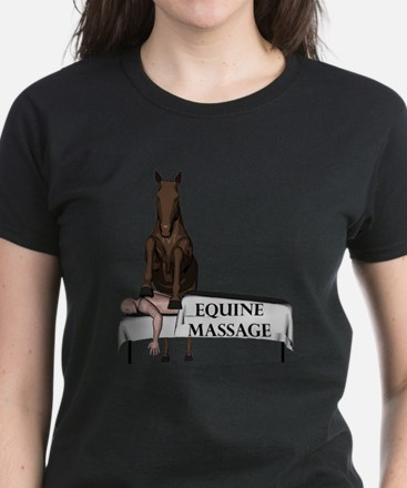 Equine Massage Women's Dark T-Shirt