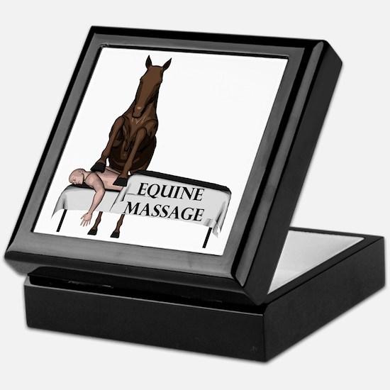 Equine Massage Keepsake Box