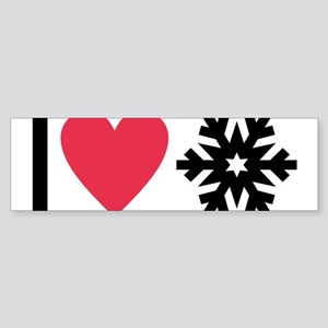 I love snow Bumper Sticker