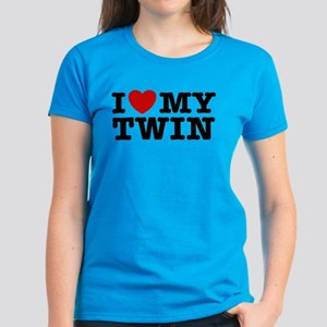 I Love My Twin Women's Dark T-Shirt