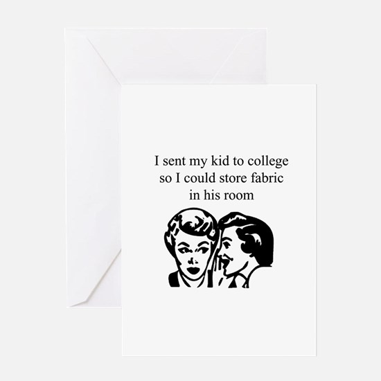 Fabric - Sent Son to College Greeting Card