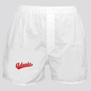 Retro Adonis (Red) Boxer Shorts