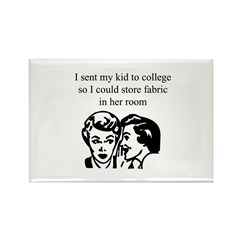 Fabric - Sent Daughter to Col Rectangle Magnet (10