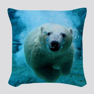 Polar Bear Woven Throw Pillow