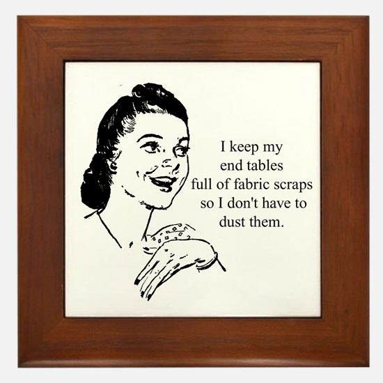 Fabric Scraps - Don't have to Framed Tile
