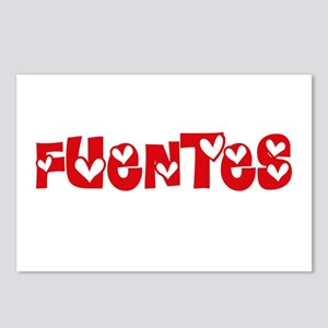 Fuentes Surname Heart Des Postcards (Package of 8)