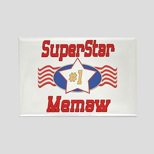 Superstar Memaw Rectangle Magnet