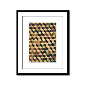 Cube Quilt - Fabric Crafts Framed Panel Print