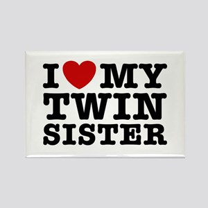 I Love My Twin Sister Rectangle Magnet