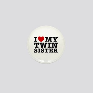 I Love My Twin Sister Mini Button