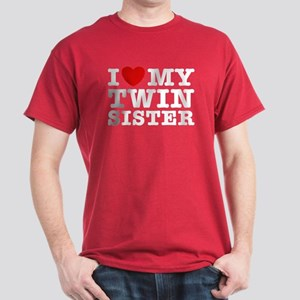I Love My Twin Sister Dark T-Shirt