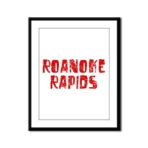 Roanoke Rapids Faded (Red) Framed Panel Print