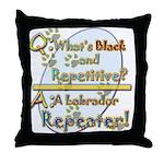 Labrador Repeater Throw Pillow