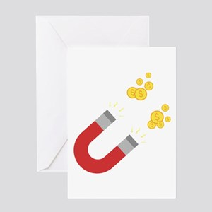 Like a magnet for money Ck64m Greeting Cards
