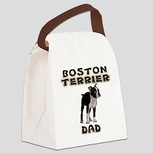 Boston Terrier Dad Canvas Lunch Bag