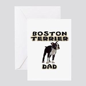 Boston Terrier Dad Greeting Cards