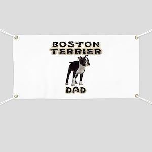 Boston Terrier Dad Banner