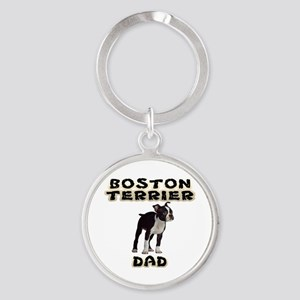 Boston Terrier Dad Keychains