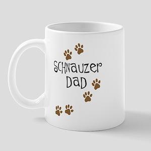 Paw Prints Schnauzer Dad Mug