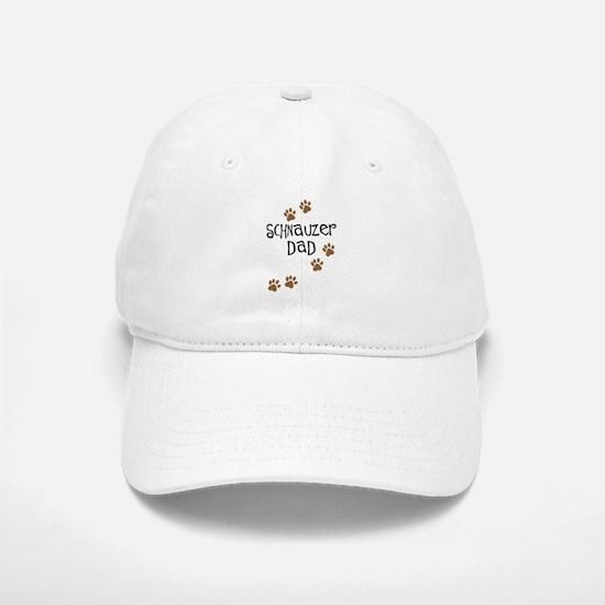 Paw Prints Schnauzer Dad Baseball Baseball Cap