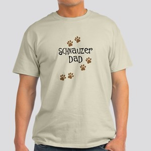 Paw Prints Schnauzer Dad Light T-Shirt